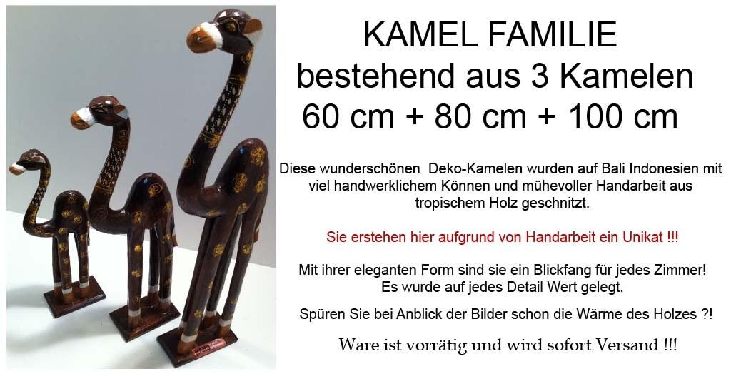 3 kamele deko holzkamel set burma holz kamel figur skulptur neu ebay. Black Bedroom Furniture Sets. Home Design Ideas