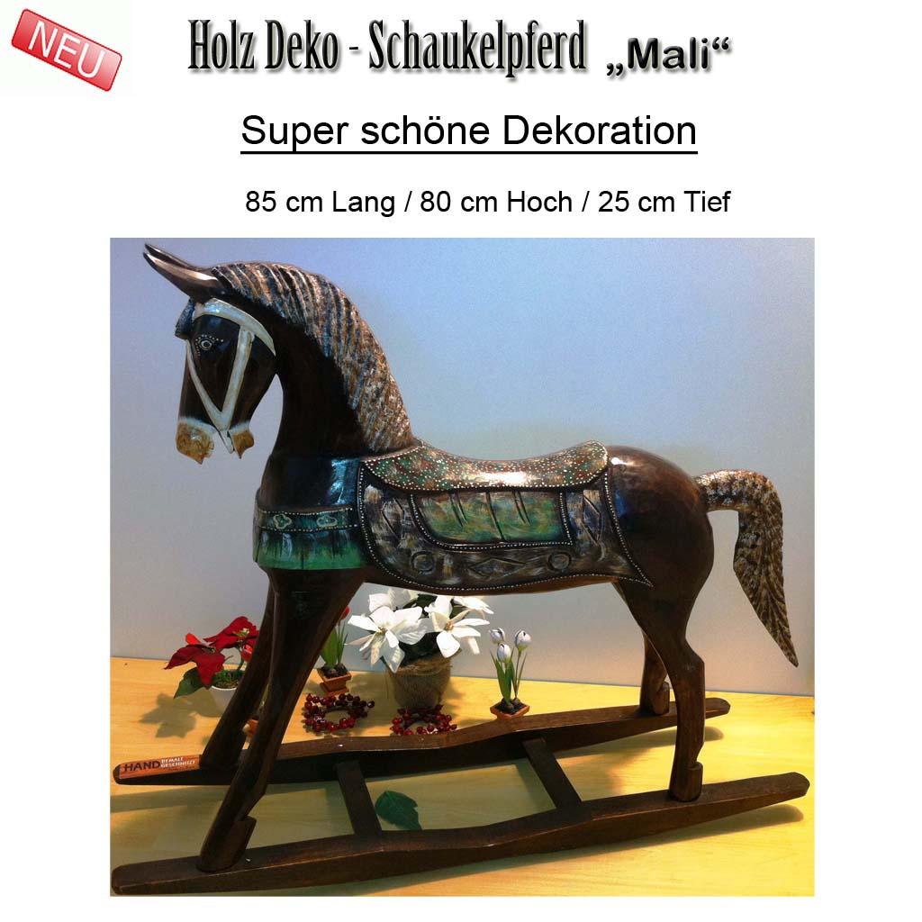 riesen schaukelpferd mali holz pferd figur skulptur neu ovp 85 cm ebay. Black Bedroom Furniture Sets. Home Design Ideas